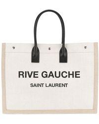 Saint Laurent - Rive Gauche Logo Tote - Lyst
