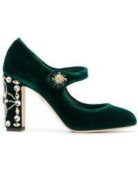 Dolce & Gabbana - Velvet Mary Jane Court Shoes - Lyst