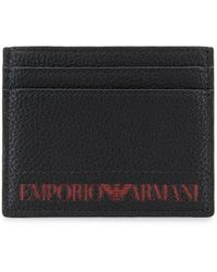 Emporio Armani - Embossed Logo Card Holder - Lyst