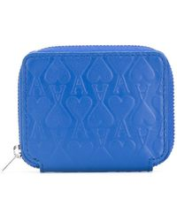 AMI - Embossed Zip Wallet - Lyst