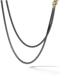 David Yurman - 14kt Yellow Gold And Coloured Steel Dy Bel Aire Necklace - Lyst