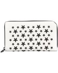 Jimmy Choo Portefeuille Carnaby - Blanc