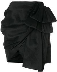 Magda Butrym - Asymmetric Draped Mini Skirt - Lyst