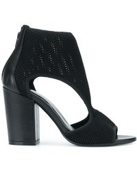 Strategia - Mesh Cut Out Sandals - Lyst