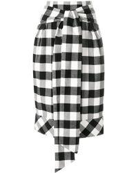 Teija - Check Tied Waist Skirt - Lyst