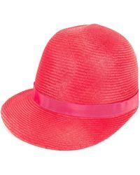 Borsalino - Ribbon Trimmed Cap - Lyst