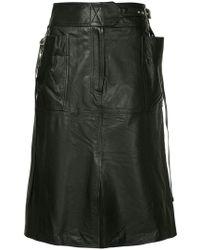 Ambush - Nobo Buckled-waist Leather Skirt - Lyst