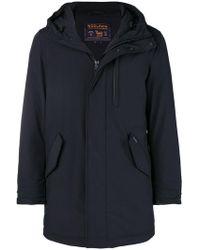 Woolrich - Hooded Zipped Coat - Lyst