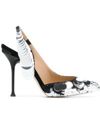 Sergio Rossi Sequin Slingback Court Shoes