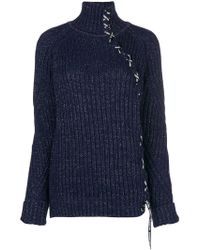 Karl Lagerfeld - Lace-up Sparkle Jumper - Lyst