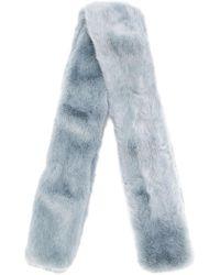 The Gigi - Lucia Faux Fur Scarf - Lyst