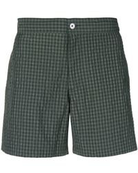 Officine Generale - Checked Beach Shorts - Lyst