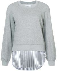 10 Crosby Derek Lam | Crewneck Sweatshirt With Shirt Hem | Lyst
