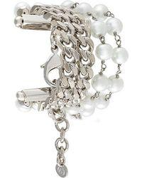 MM6 by Maison Martin Margiela - Embellished Chain Bracelet - Lyst