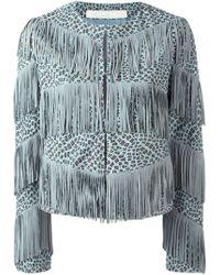 DROMe - Fringed Leopard Print Jacket - Lyst