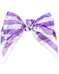 Alessandra Rich - Striped Bow Hair Clip - Lyst