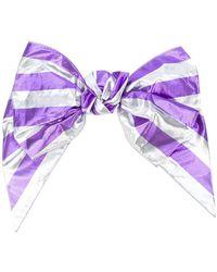 Alessandra Rich - Striped Bow Hair Clip - Lyst