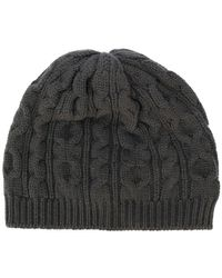 42e5ca07a09 Lyst - Drumohr Cable Knit Beanie in Gray for Men