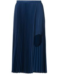 Toga - Pleated Cut Out Skirt - Lyst
