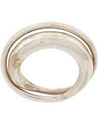 Rosa Maria - Swirly Double Band Ring - Lyst