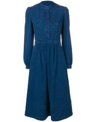 A.P.C. - Elasticated Waist Midi Dress - Lyst
