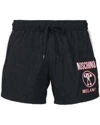 Moschino - Printed Logo Swim Shorts - Lyst