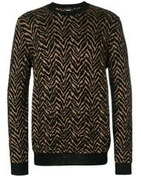 Just Cavalli - Patterned Sweater - Lyst