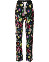 Pinko - Floral Print Trousers - Lyst