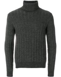AMI - Turtleneck Flat Ribbed Sweater - Lyst