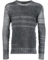 Avant Toi - Striped Rib Knit Jumper - Lyst