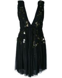 Jay Ahr - Gold-tone Flower Appliqué Dress - Lyst