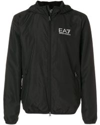 EA7 | Zipped Logo Jacket | Lyst