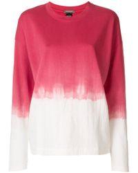 Suzusan - Dip Dye Long-sleeve T-shirt - Lyst