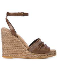 Brunello Cucinelli - Wedge Espadrille Sandals - Lyst