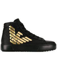EA7 - Sneakers alte con stampa - Lyst