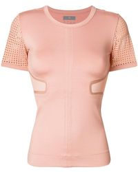 adidas By Stella McCartney - Run Perforated T-shirt - Lyst