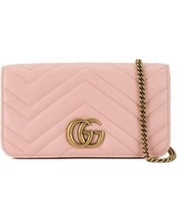 be1e19bbb327 Gucci Gg Marmont Large Quilted Leather Shoulder Bag in Black - Lyst