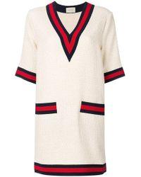 Gucci - Web-trimmed Dress - Lyst