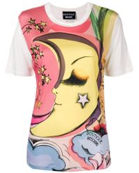 Boutique Moschino - Moon Print T-shirt - Lyst