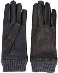 DIESEL - Ribbed Detail Gloves - Lyst