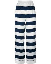 Dolce & Gabbana - Striped Palazzo Pants - Lyst