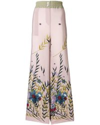 Erika Cavallini Semi Couture - Floral Print Trousers - Lyst