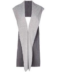 Reality Studio - Striped Sleeveless Cardigan - Lyst