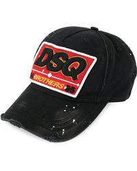 DSquared² - Dsq Patch Baseball Cap - Lyst