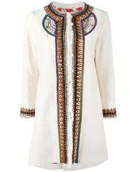 Bazar Deluxe - Embellished Trim Coat - Lyst