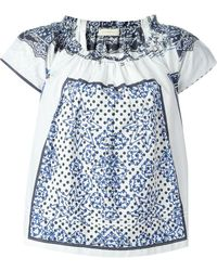 Wunderkind | Square Print Blouse | Lyst