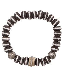 Loree Rodkin - Wood Beaded Bracelet - Lyst