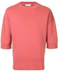 Cerruti 1881 - Cropped-sleeve Sweater - Lyst