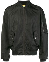 Versace Jeans - Logo Print Bomber Jacket - Lyst