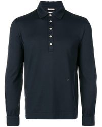 Massimo Alba - Knitted Polo Shirt - Lyst